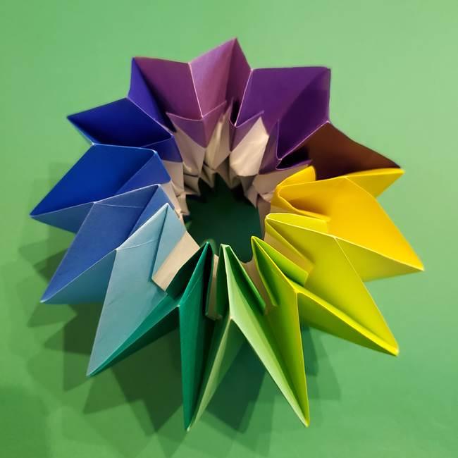 折り紙の花火 12枚でつくる意外と簡単な作り方折り方②組み立て(40)