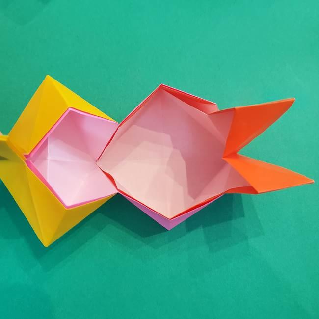 折り紙の花火 8枚でつくる簡単な折り方作り方②組み立て(10)