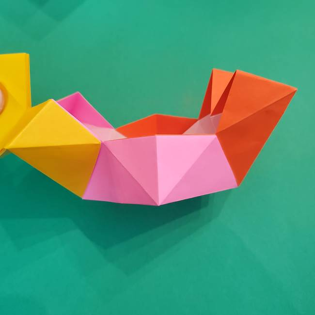 折り紙の花火 8枚でつくる簡単な折り方作り方②組み立て(11)
