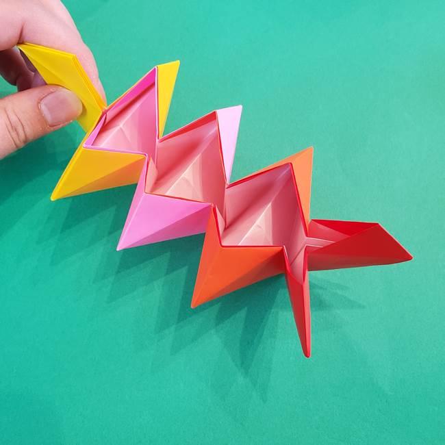 折り紙の花火 8枚でつくる簡単な折り方作り方②組み立て(13)