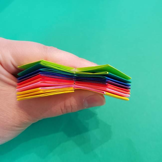 折り紙の花火 8枚でつくる簡単な折り方作り方②組み立て(14)