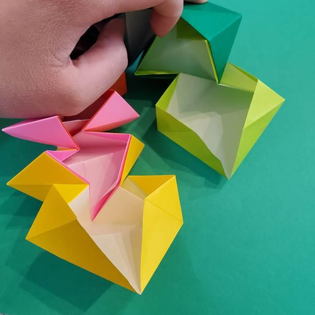 折り紙の花火 8枚でつくる簡単な折り方作り方②組み立て(15)
