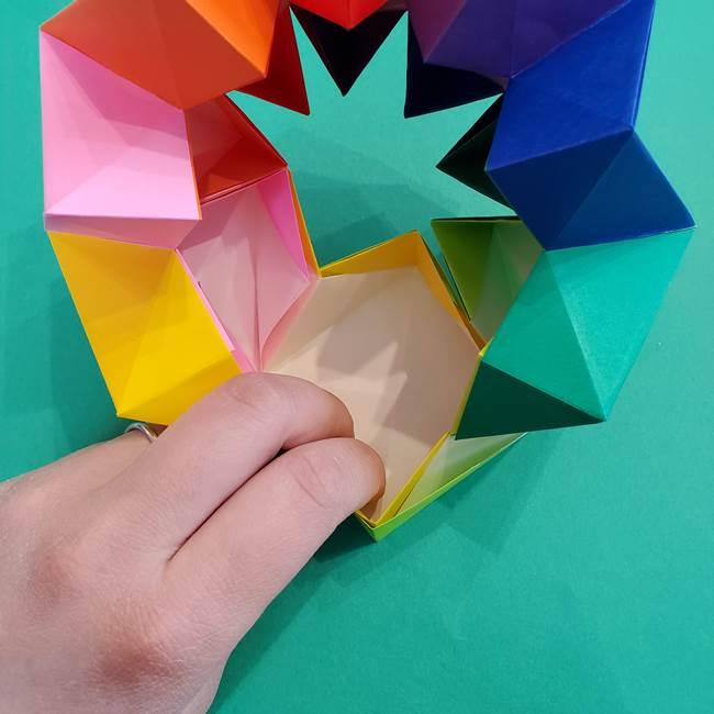 折り紙の花火 8枚でつくる簡単な折り方作り方②組み立て(16)