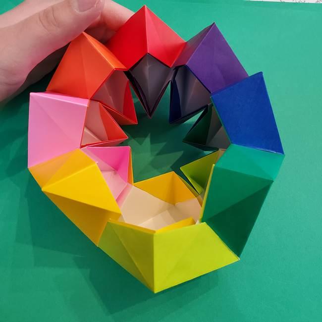 折り紙の花火 8枚でつくる簡単な折り方作り方②組み立て(17)