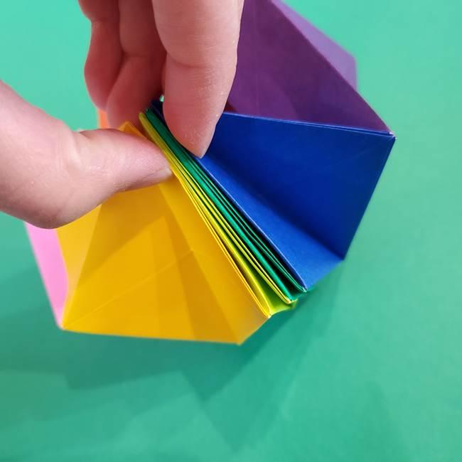 折り紙の花火 8枚でつくる簡単な折り方作り方②組み立て(18)