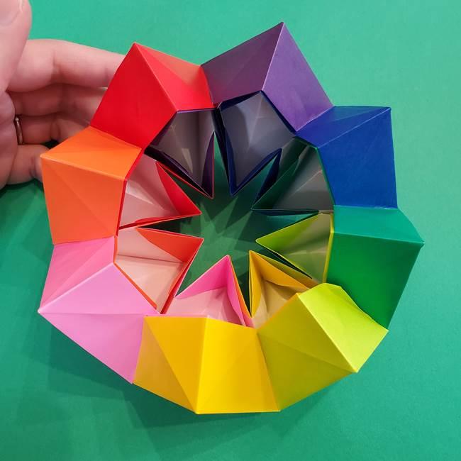 折り紙の花火 8枚でつくる簡単な折り方作り方②組み立て(19)