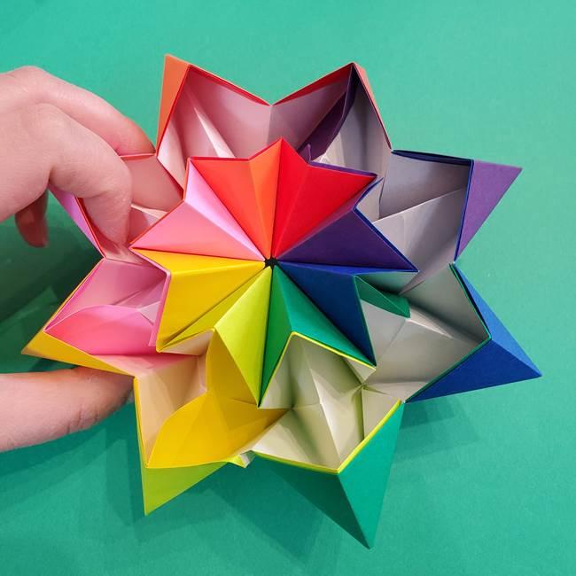 折り紙の花火 8枚でつくる簡単な折り方作り方②組み立て(20)