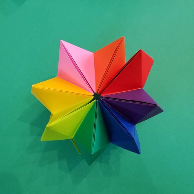 折り紙の花火 8枚でつくる簡単な折り方作り方②組み立て(21)