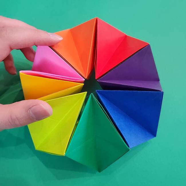 折り紙の花火 8枚でつくる簡単な折り方作り方②組み立て(22)