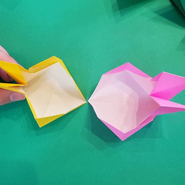 折り紙の花火 8枚でつくる簡単な折り方作り方②組み立て(5)