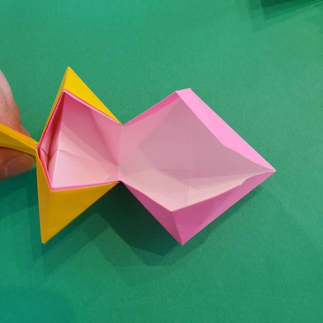 折り紙の花火 8枚でつくる簡単な折り方作り方②組み立て(9)