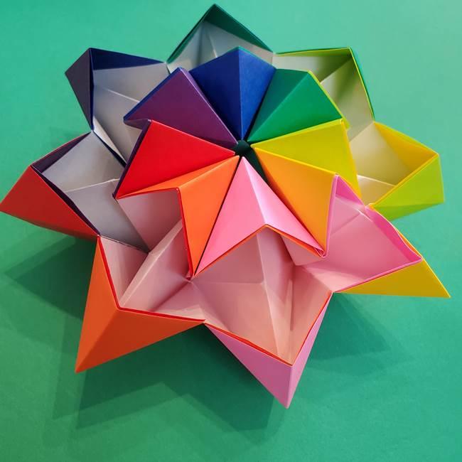折り紙の花火 8枚で簡単♪くるくる動く万華鏡みたい!折り方作り方を紹介