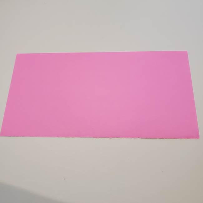 折り紙の蓮(ハス)の花☆立体的な作り方折り方①花(1)