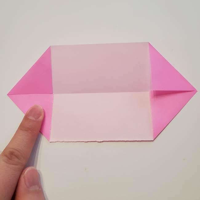 折り紙の蓮(ハス)の花☆立体的な作り方折り方①花(4)