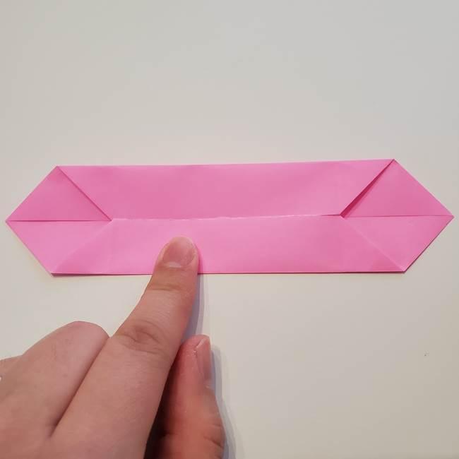 折り紙の蓮(ハス)の花☆立体的な作り方折り方①花(5)