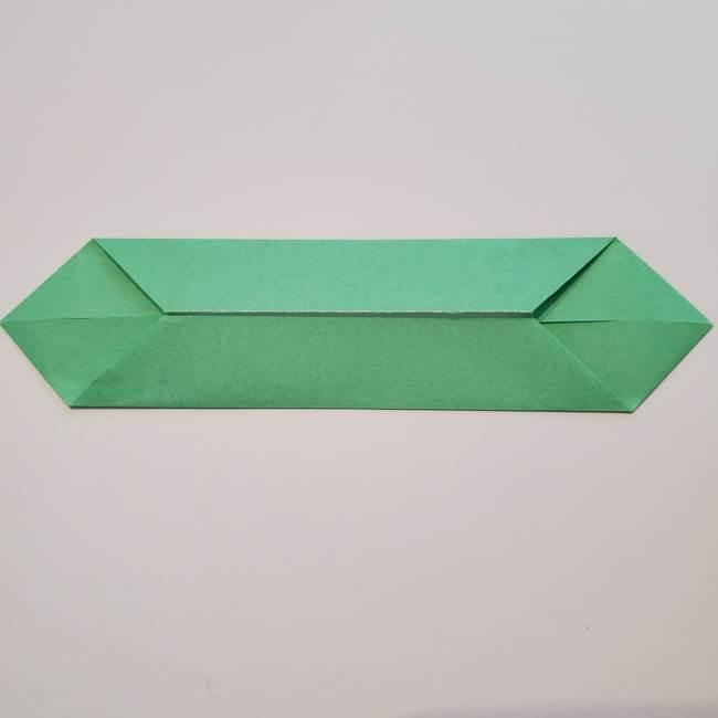 折り紙の蓮(ハス)の花☆立体的な作り方折り方②葉(2)