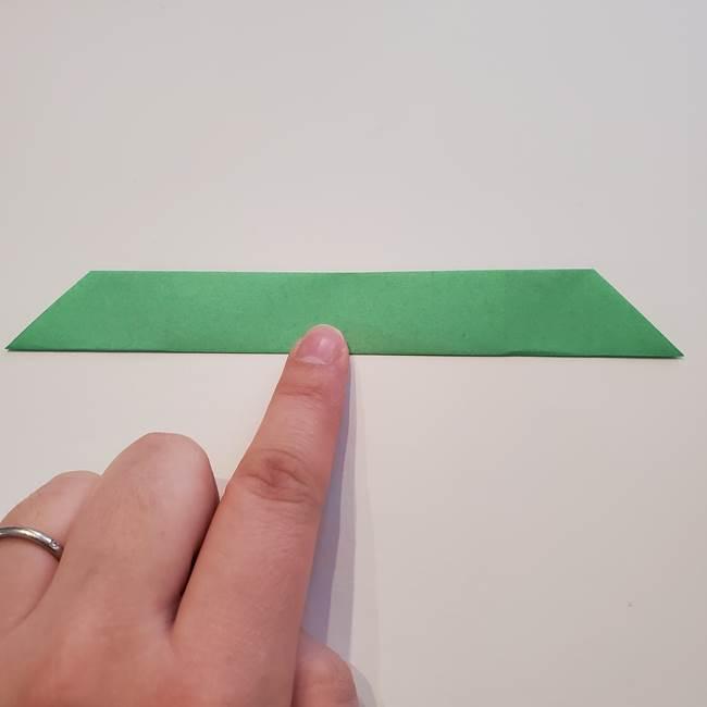 折り紙の蓮(ハス)の花☆立体的な作り方折り方②葉(3)