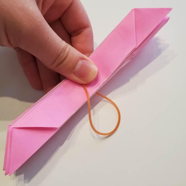 折り紙の蓮(ハス)の花☆立体的な作り方折り方③完成(10)