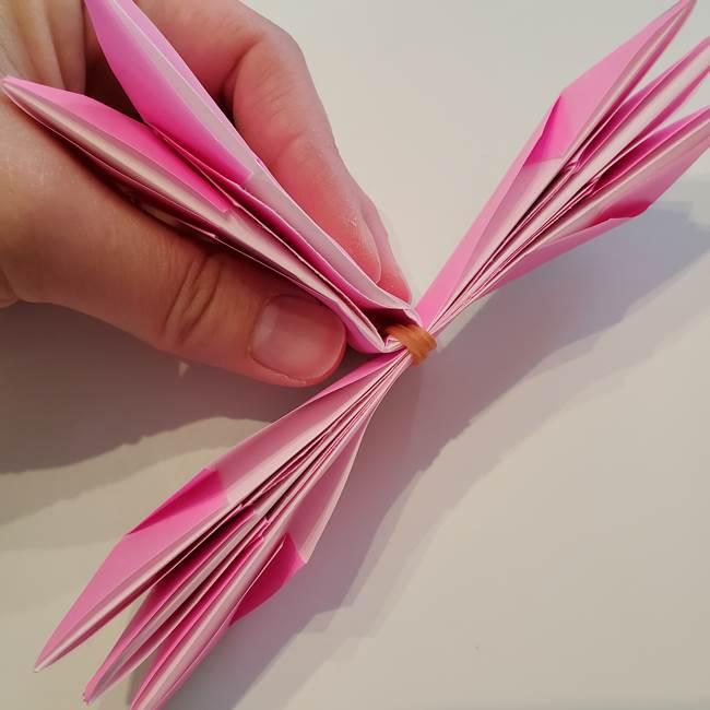 折り紙の蓮(ハス)の花☆立体的な作り方折り方③完成(12)