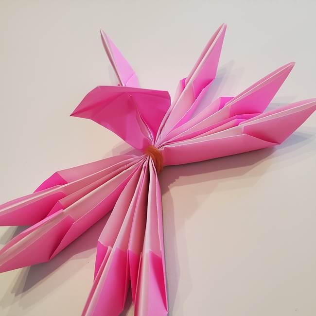 折り紙の蓮(ハス)の花☆立体的な作り方折り方③完成(16)