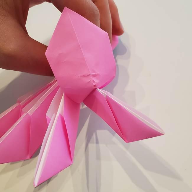 折り紙の蓮(ハス)の花☆立体的な作り方折り方③完成(17)