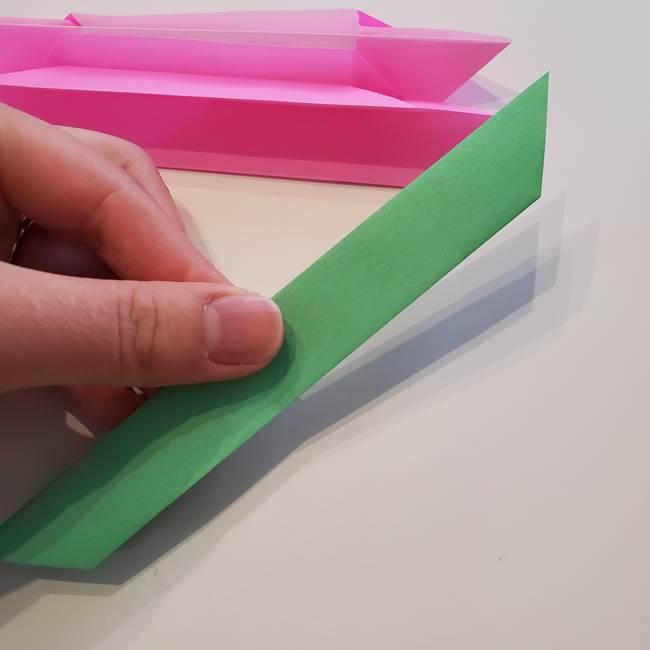 折り紙の蓮(ハス)の花☆立体的な作り方折り方③完成(2)