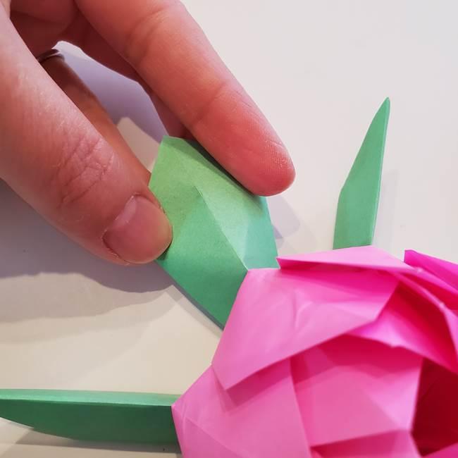 折り紙の蓮(ハス)の花☆立体的な作り方折り方③完成(23)