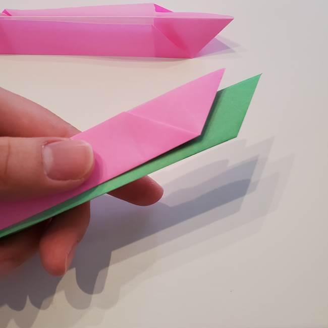 折り紙の蓮(ハス)の花☆立体的な作り方折り方③完成(3)