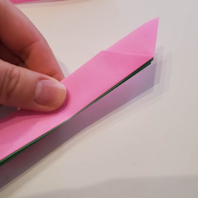 折り紙の蓮(ハス)の花☆立体的な作り方折り方③完成(4)