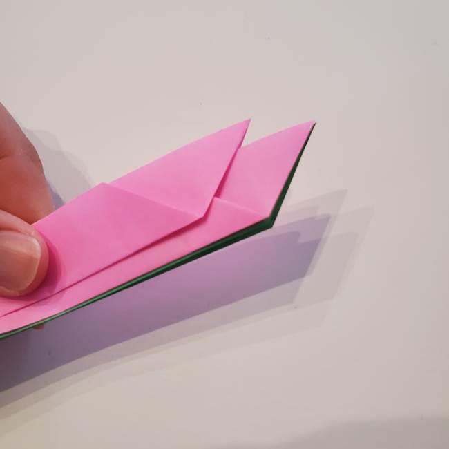 折り紙の蓮(ハス)の花☆立体的な作り方折り方③完成(5)