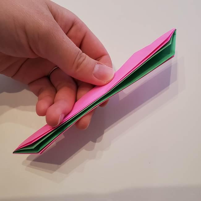 折り紙の蓮(ハス)の花☆立体的な作り方折り方③完成(6)