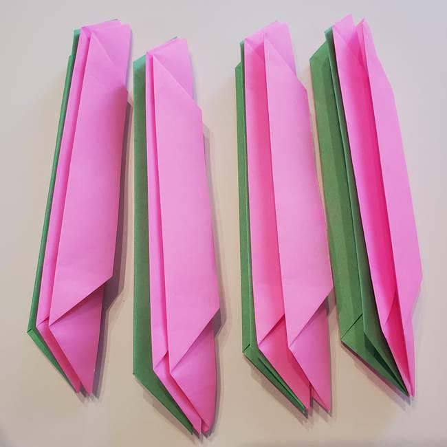 折り紙の蓮(ハス)の花☆立体的な作り方折り方③完成(7)