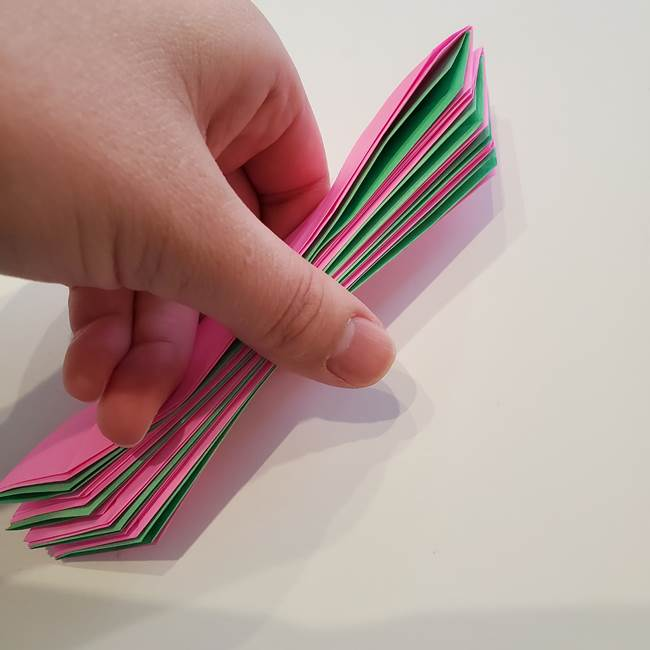 折り紙の蓮(ハス)の花☆立体的な作り方折り方③完成(8)