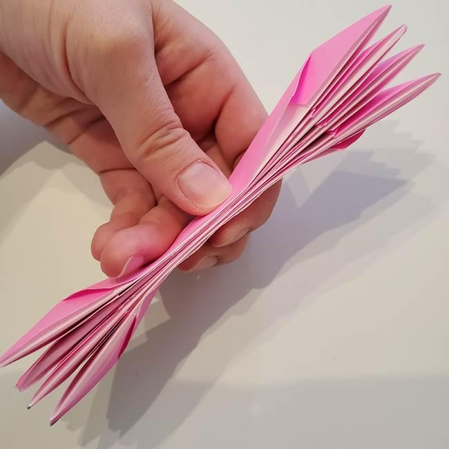 折り紙の蓮(ハス)の花☆立体的な作り方折り方③完成(9)
