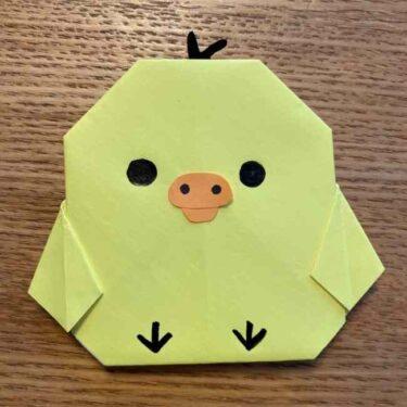 折り紙 キイロイトリの簡単な折り方☆リラックマのかわいいキャラの作り方