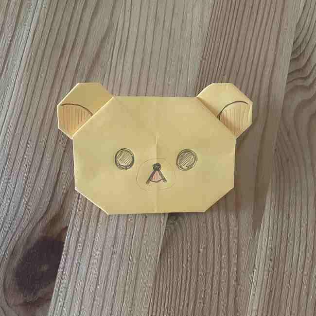 折り紙 コリラックマの折り方作り方☆簡単可愛いキャラを手作り