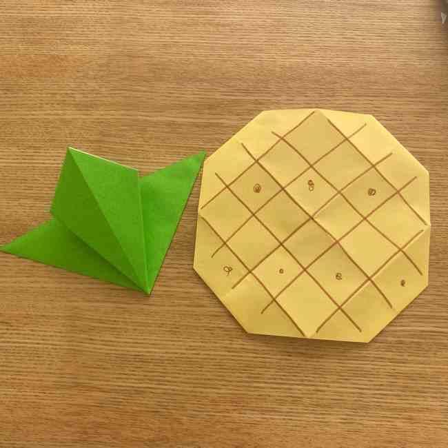 折り紙 パイナップルの簡単な作り方・折り方