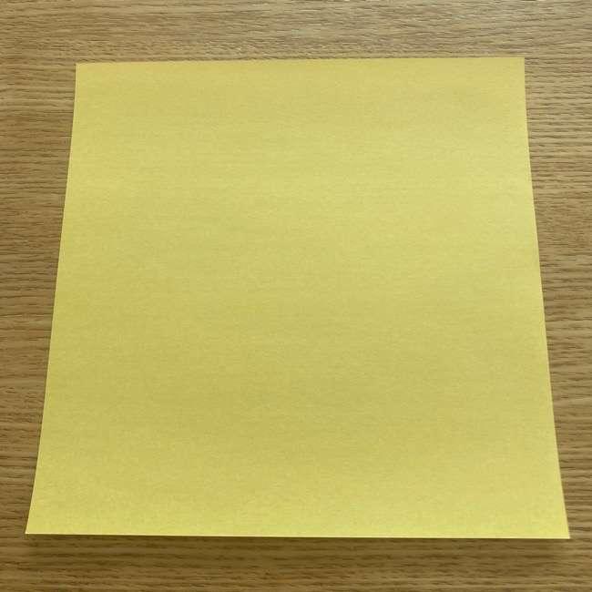 折り紙 パイナップルの簡単な作り方(実の折り方 (1)
