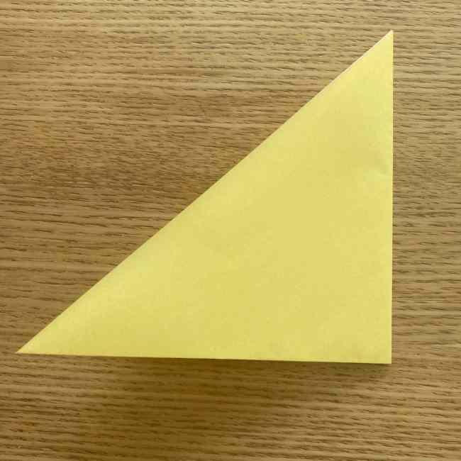 折り紙 パイナップルの簡単な作り方(実の折り方 (3)