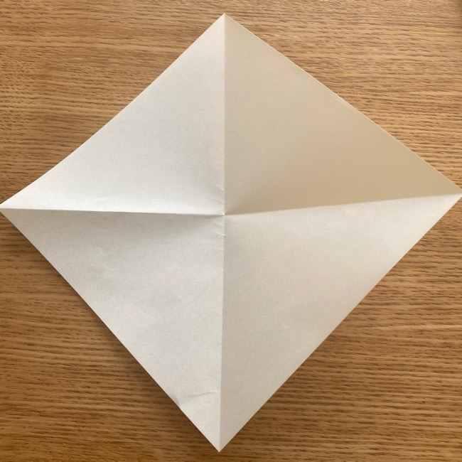 折り紙 パイナップルの簡単な作り方(実の折り方 (4)