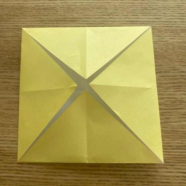 折り紙 パイナップルの簡単な作り方(実の折り方 (5)