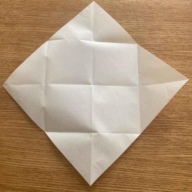 折り紙 パイナップルの簡単な作り方(実の折り方 (6)