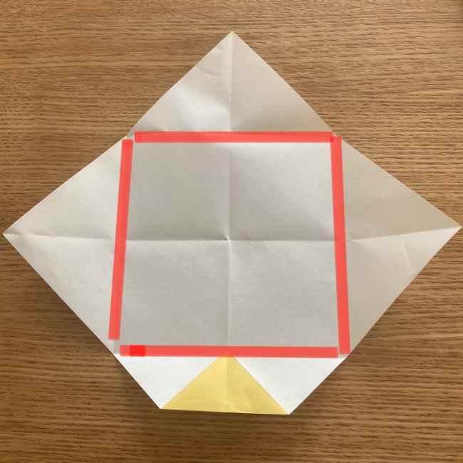 折り紙 パイナップルの簡単な作り方(実の折り方 (7)
