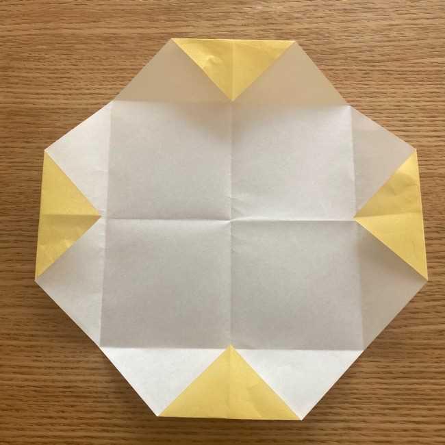 折り紙 パイナップルの簡単な作り方(実の折り方 (8)