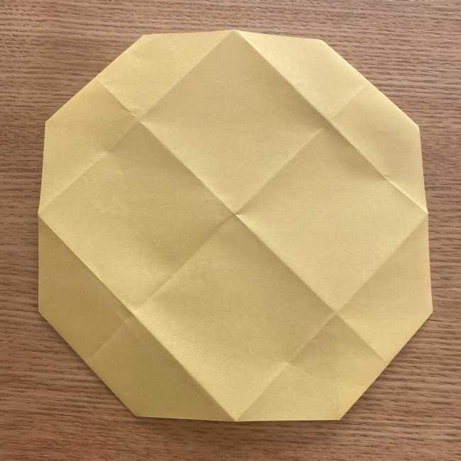 折り紙 パイナップルの簡単な作り方(実の折り方 (9)