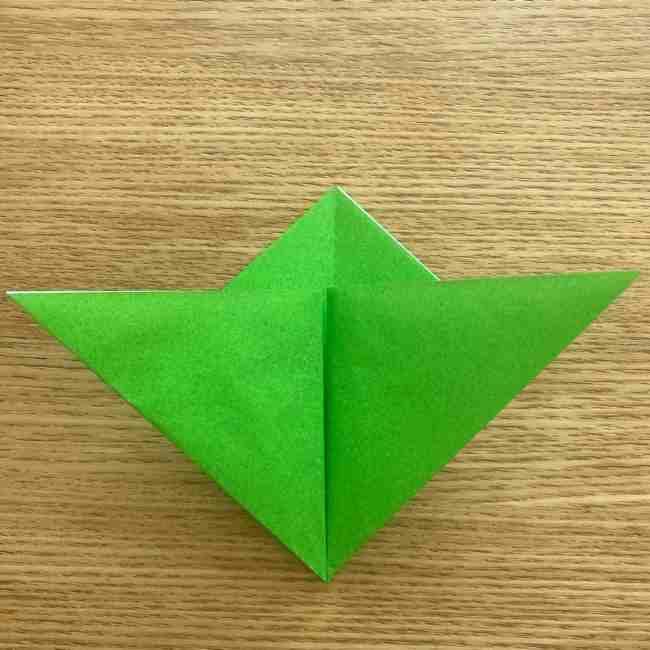 折り紙 パイナップルの簡単な作り方(葉の折り方) (10)