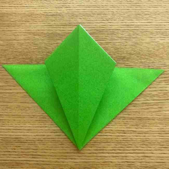 折り紙 パイナップルの簡単な作り方(葉の折り方) (11)