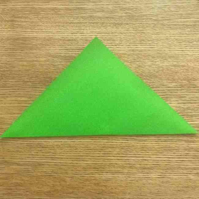 折り紙 パイナップルの簡単な作り方(葉の折り方) (2)