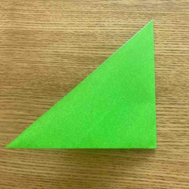 折り紙 パイナップルの簡単な作り方(葉の折り方) (3)
