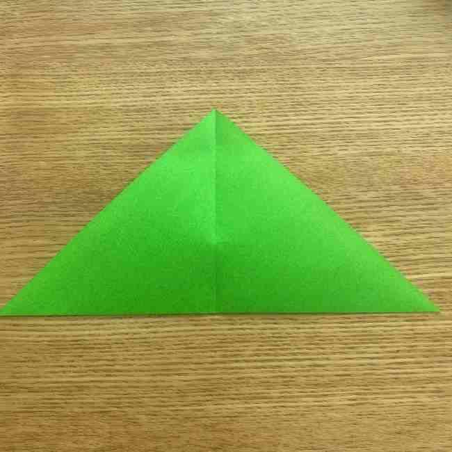 折り紙 パイナップルの簡単な作り方(葉の折り方) (4)